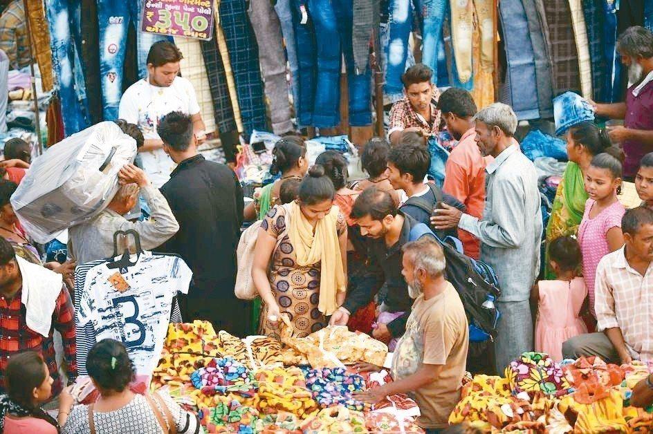 印度上季GDP成長增7.1%。 法新社