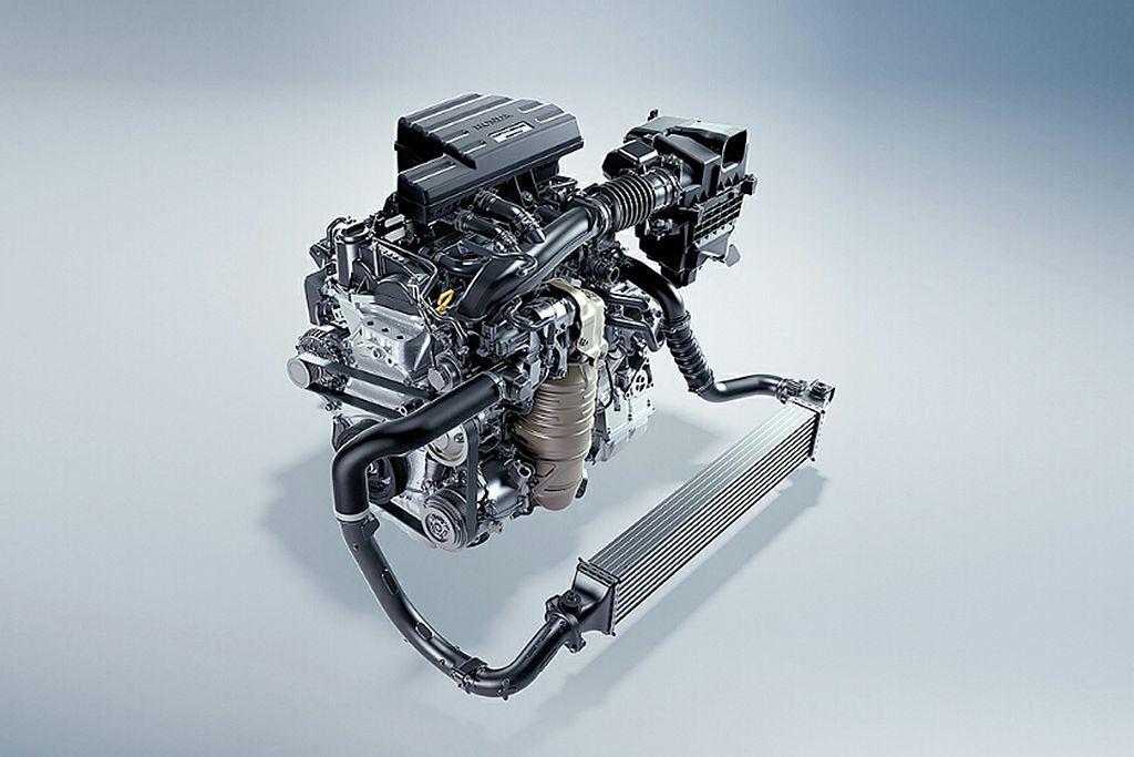Honda HR-V Sport動力源自Civic、CR-V上的1.5L VTEC Turbo渦輪引擎,具備182ps最大馬力及24.4kgm峰值扭力輸出。 圖/Honda提供