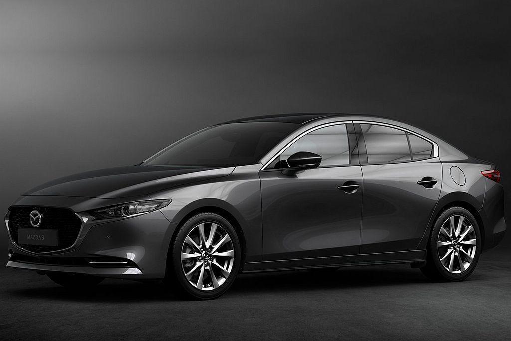 今年洛杉磯車展最大重點,莫過於全新第四代Mazda3,外觀幾乎延續概念車設計理念下,動力、車體架構以及懸吊系統都有相當顯著的改進。 圖/Mazda提供