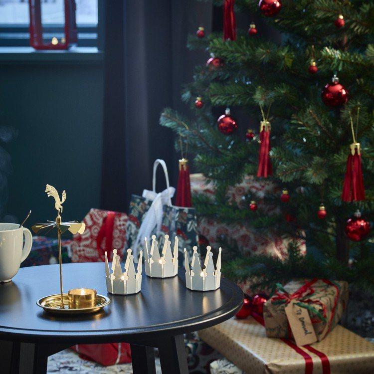 IKEA VINTER 2018天使樂鐘造型燭台,建議售價399元。圖/IKEA...