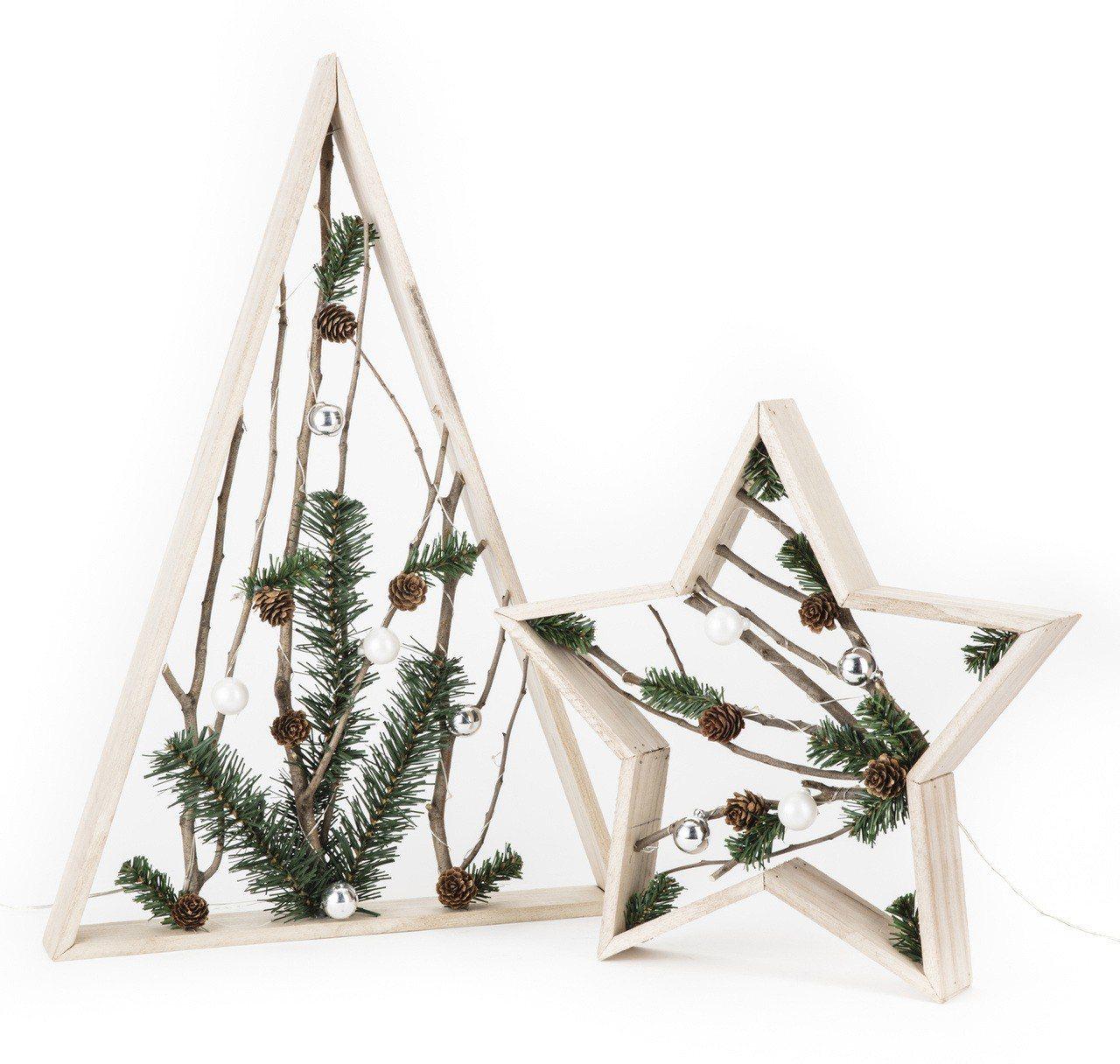 三角型五角星型聖誕LED擺飾燈圖/HOLA提供