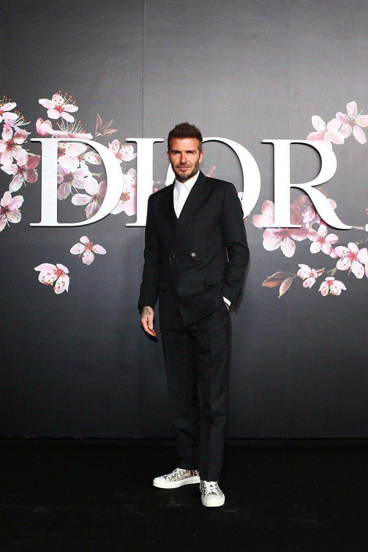 貝克漢是Dior Men 2019早秋發表嘉賓。圖/Dior提供