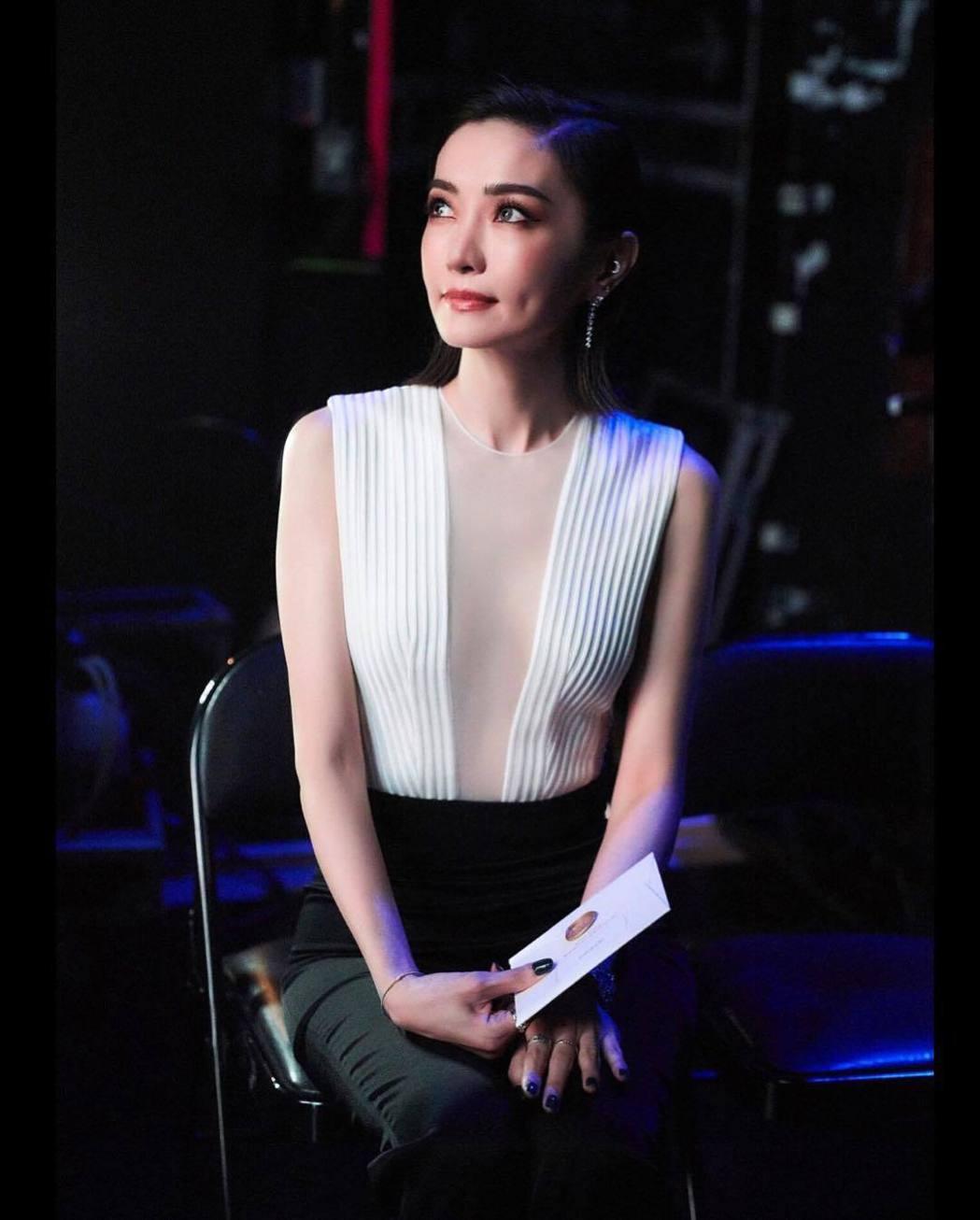 謝金燕上月以短髮造型出席金馬獎。圖/摘自IG