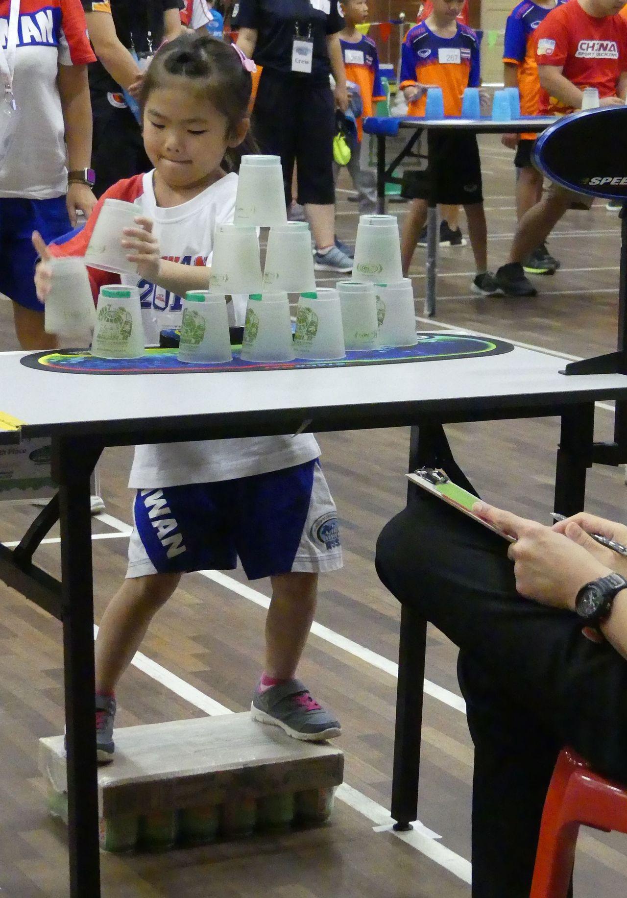 來自桃園的魏宇晨年僅5歲,是中華隊年紀最小的選手,身高只有114公分,家長專程到...