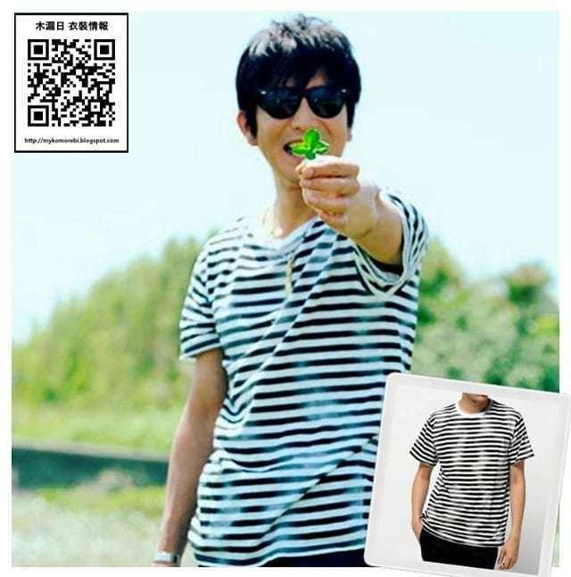 木村拓哉這次來台穿搭,在7月就穿過類似的T恤,風格很一致。圖/取自IG_bonn...