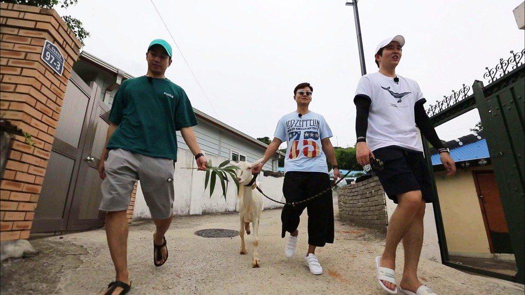 韓綜「一日三餐」海洋牧場篇由得糧島三兄弟神話Eric(左起)、李瑞鎮、尹鈞相為主