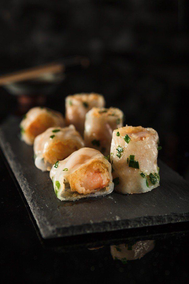 獲得上海網友高評價的「金網鮮蝦腸」。圖/天蔥國際餐飲集團提供