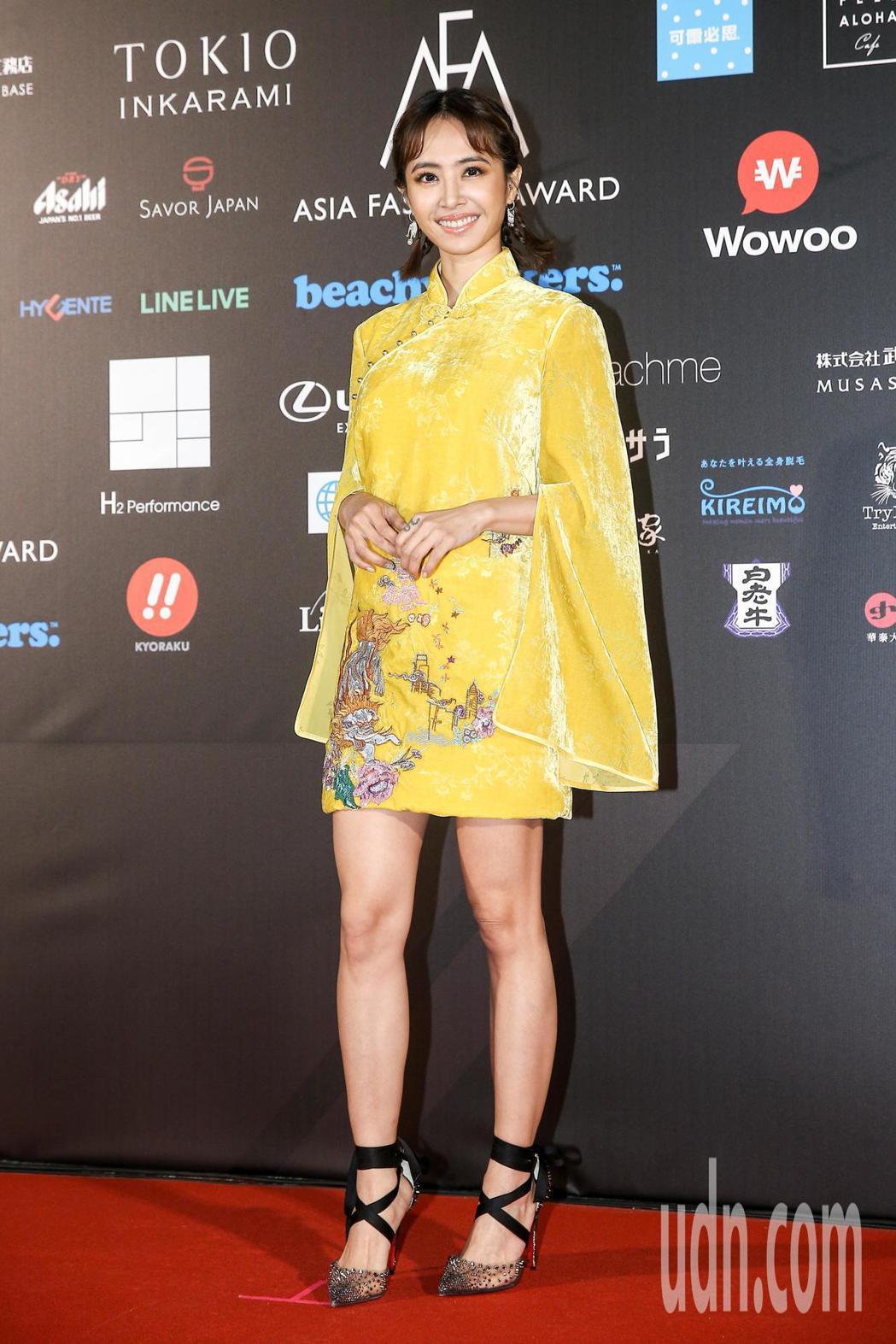2018亞洲時尚大賞在台北中正紀念堂登場,蔡依林現身紅毯。記者林伯東/攝影