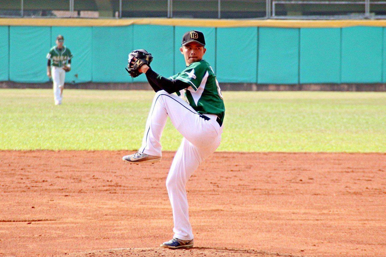 國體大先發投手李宇翔繳出7局好投。圖/大專體育總會提供
