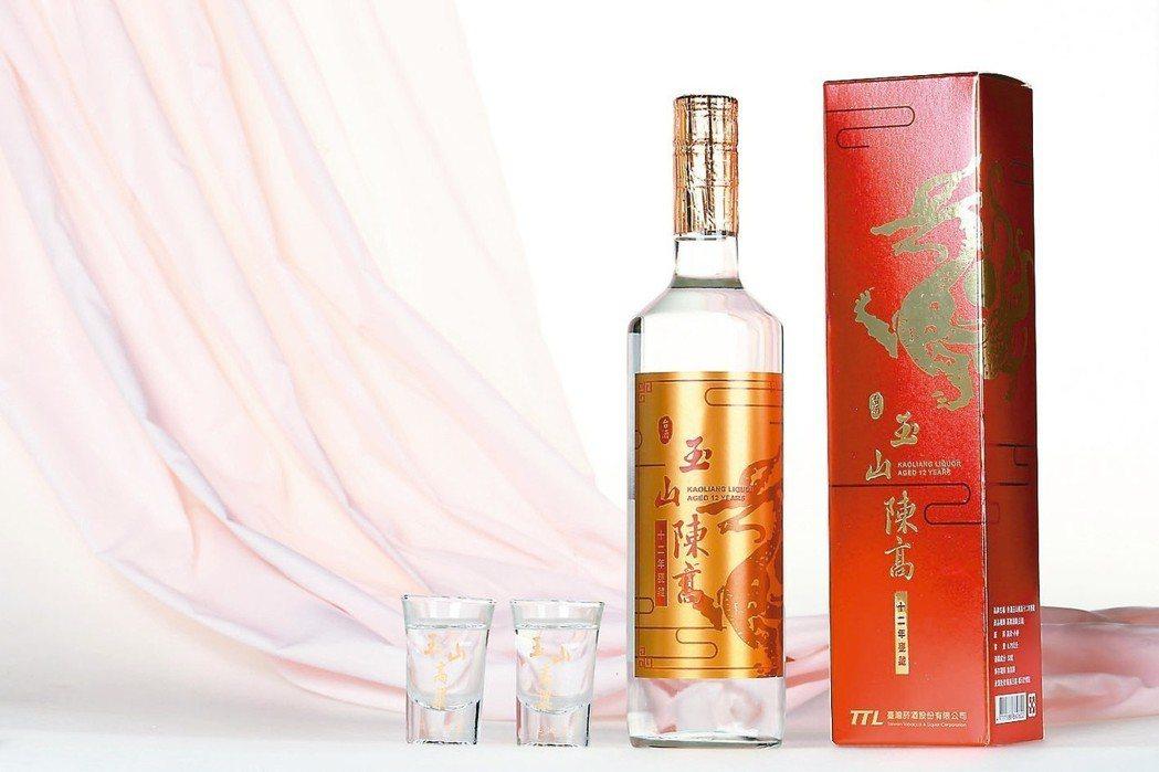 台酒以神獸「紅麒麟」作為白酒標誌,酒精度52%,襯托酒液的優雅風格。 攝影╱鄭清...