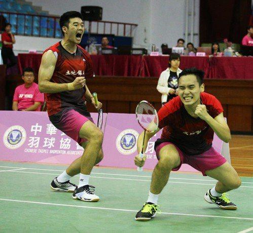 王齊麟(左)與柏禮維。 資料照(圖/中華羽球協會提供)