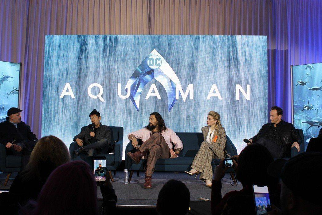 華裔導演溫子仁首部水中電影 「水行俠」21日美國上映。 記者張筠/攝影