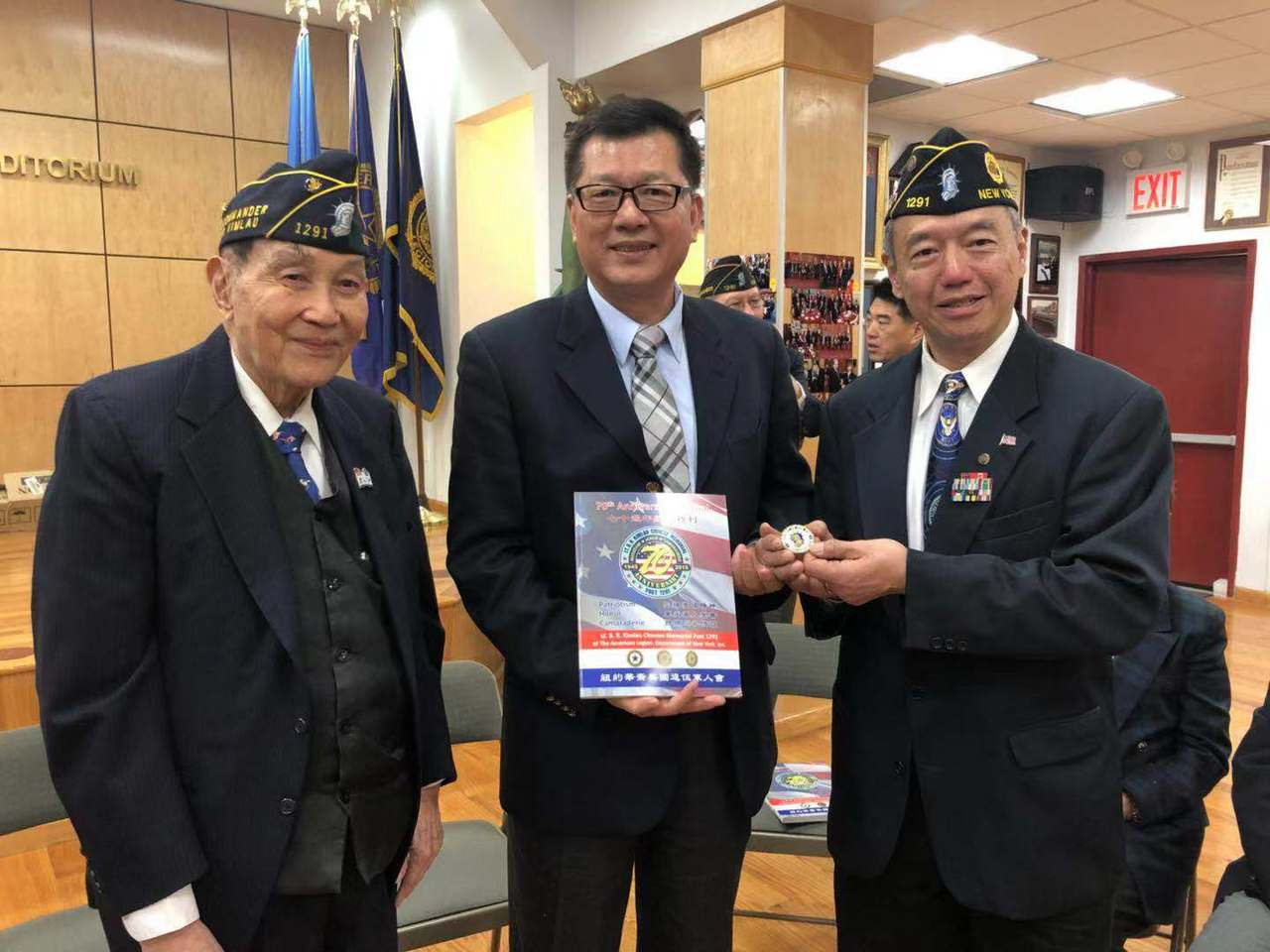 中華民國退役官兵輔導委員會拜會紐約華裔美國退伍軍人會與中華公所。 記者張晨/攝影