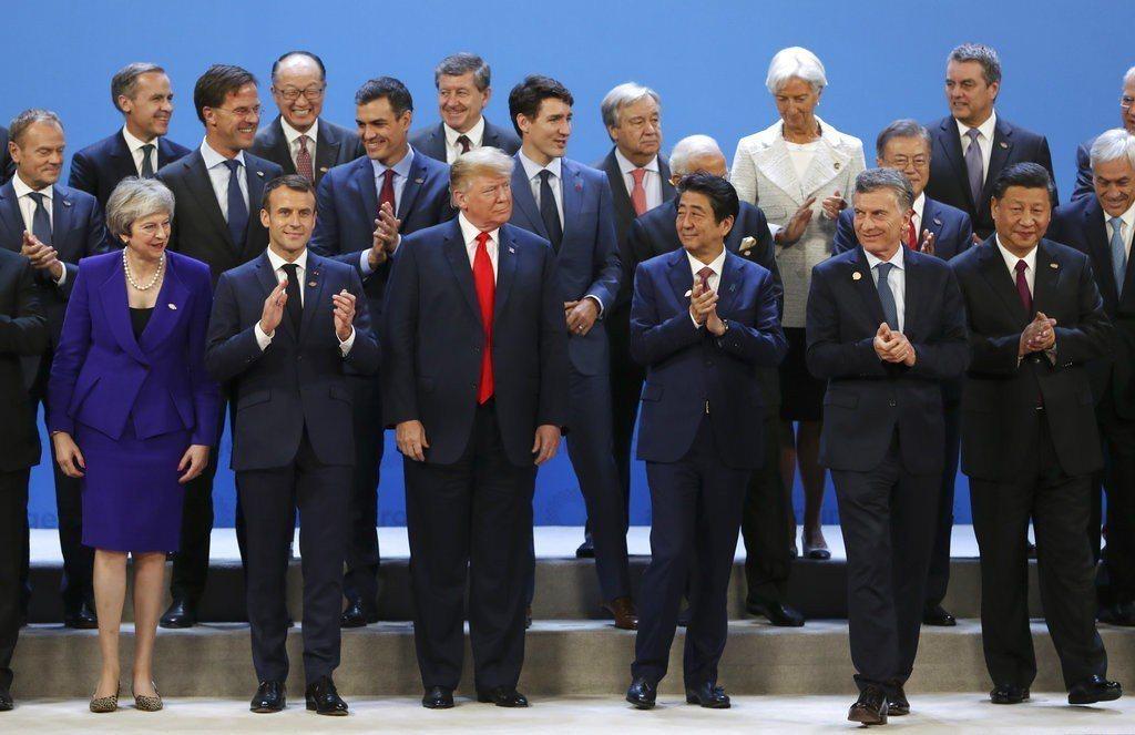 G20峰會1日在阿根廷閉幕。美聯社