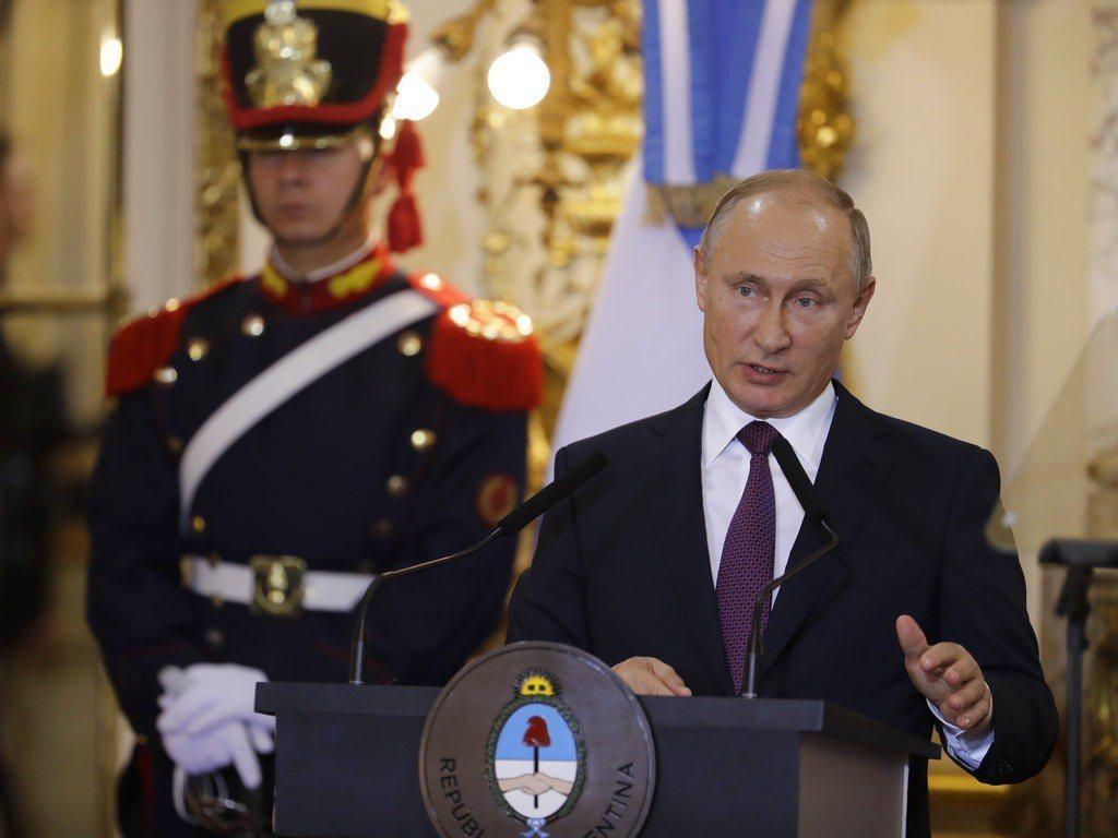 俄羅斯總統普亭。美聯社