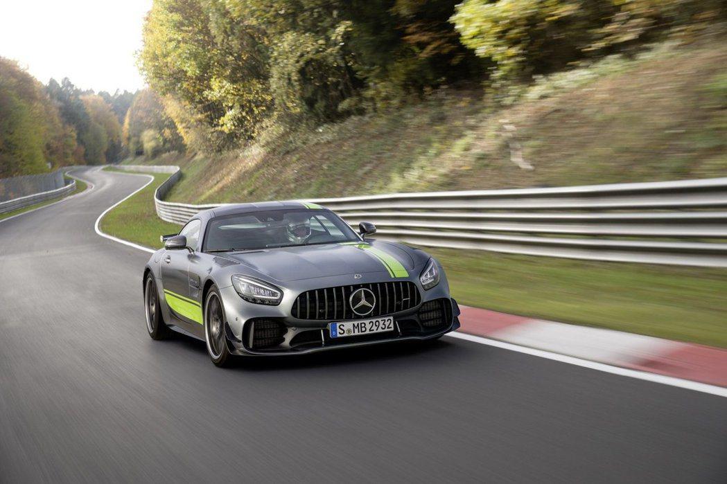 Mercedes-AMG GT R Pro在紐柏林賽道創下了7分04秒632的單圈紀錄。 摘自Mercedes-AMG