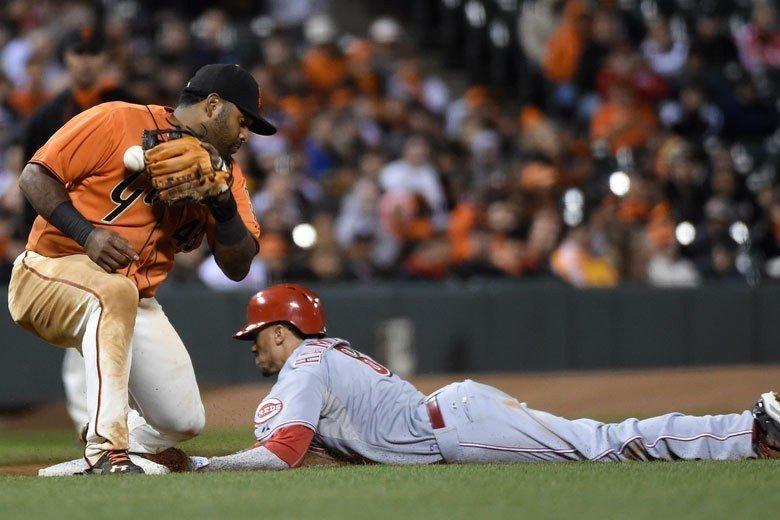 漢米爾頓(右)雖然有超強的盜壘能力,可以盜完二壘盜三壘,但要等他下一次上壘可能要...