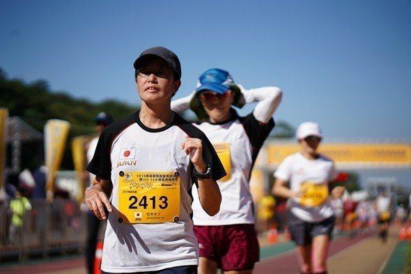 2018東吳超馬女子組冠軍日本選手松本尤里。 東吳大學提供