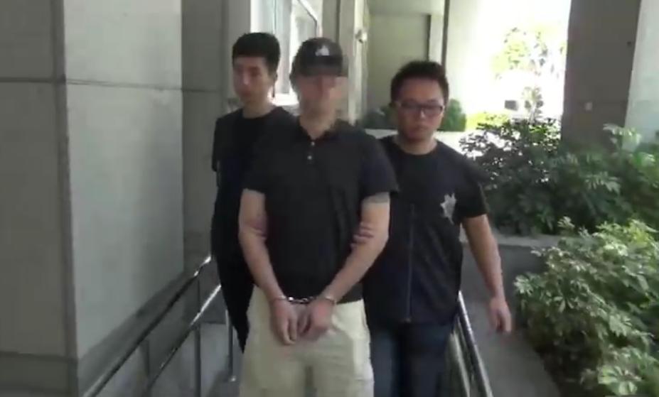警方將陳嫌拘提到案。記者蕭雅娟/翻攝