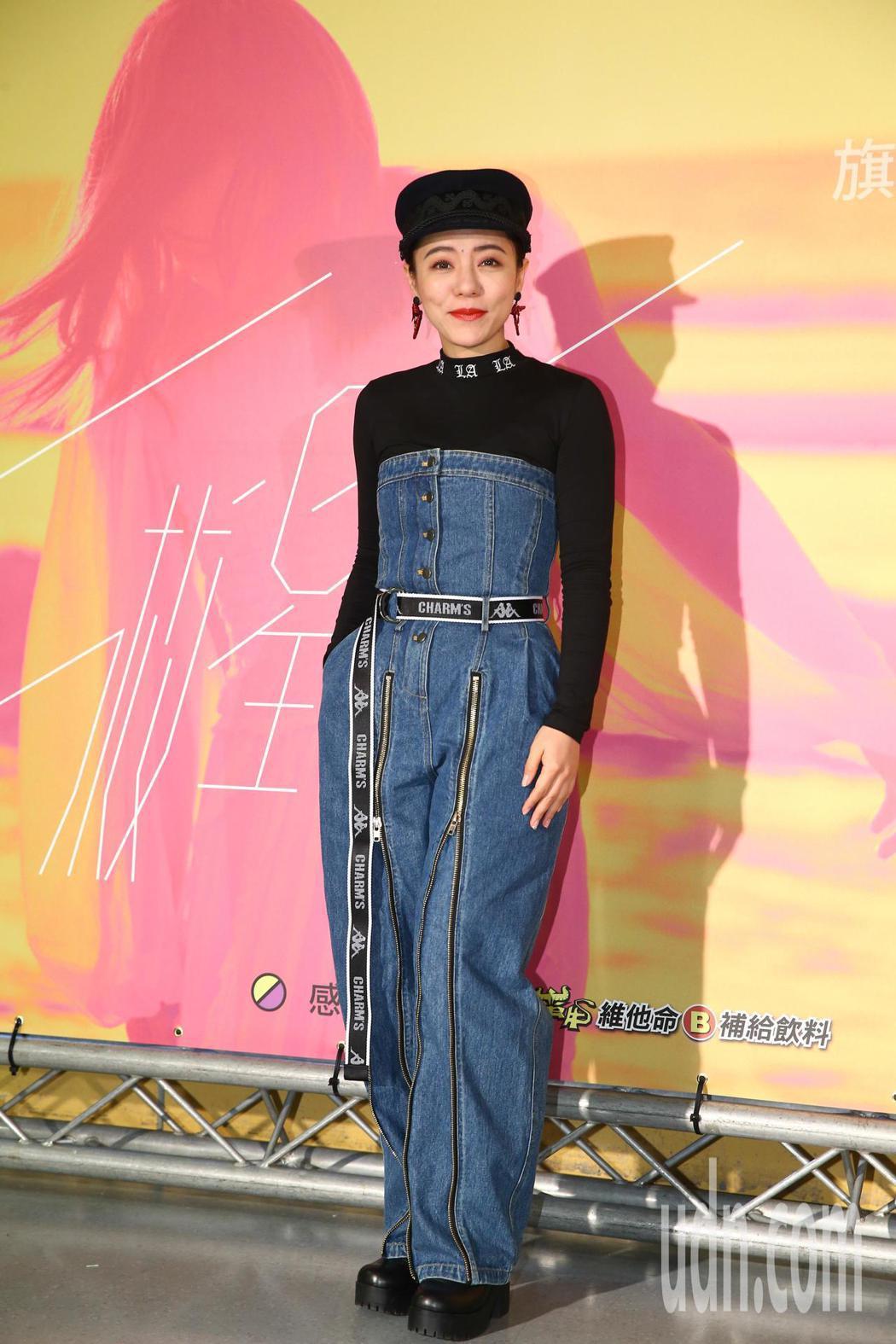 金曲歌后徐佳瑩下午在小巨蛋繼續開唱,藝人丁噹(圖)出席。記者葉信菉/攝影