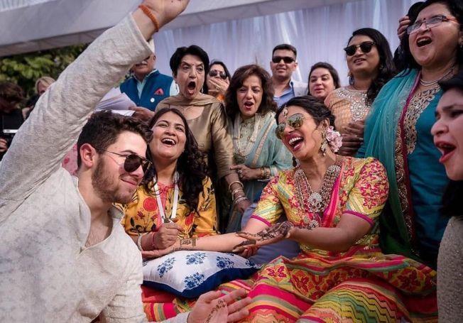 琵豔卡喬普拉與尼克強納斯的印度婚禮相當熱鬧。圖/美聯社
