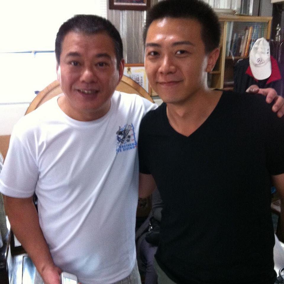 廖錦德(右)PO文悼念安迪。圖/摘自臉書