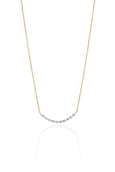 銀座白石Anniversary Jewelry系列雙色美鑽鑽鍊,特價13,950...