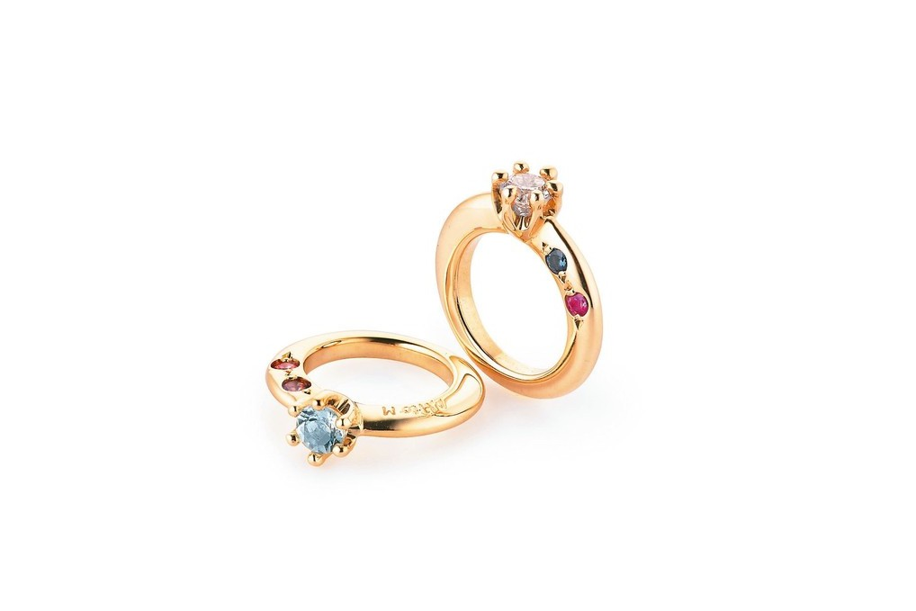 銀座白石Baby Ring彩寶戒指,特價4,500元起。 圖/ 銀座白石提供