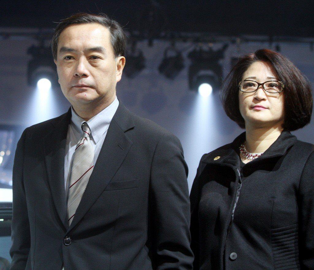 裕隆董事長嚴凱泰(左)及夫人陳莉蓮(右)。聯合報系資料照片