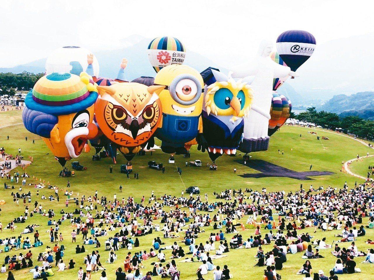 台東縣近五年來積極發展觀光旅遊,熱氣球帶動觀光人潮。 圖/聯合報系資料照片