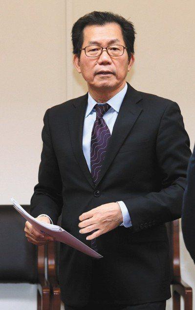 環保署長李應元(圖)准辭後,傳出可能由台南市代理市長李孟諺接任。 圖/聯合報系資...