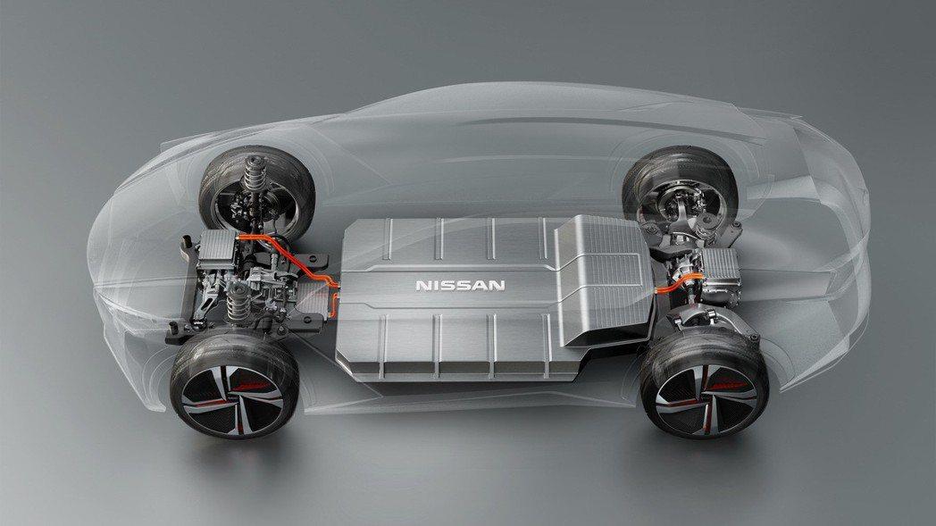 Nissan 宣稱會有更大容量且更輕薄的電池。 摘自Nissan