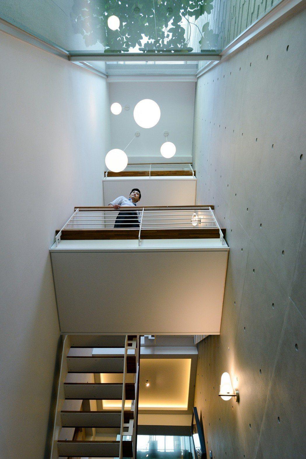 採光賞景美學梯廊。 圖片提供/閎寶集團˙茂騰建築
