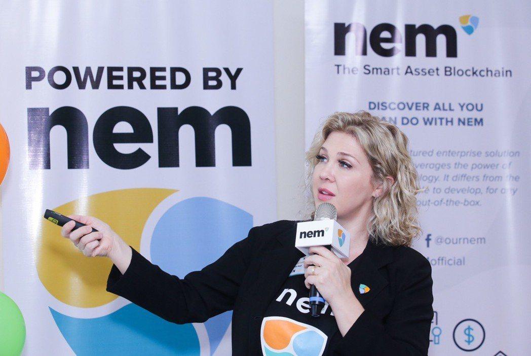 NEM北美負責人Aleaxndra Tinsman對區塊鏈未來進行剖析。 NEM...