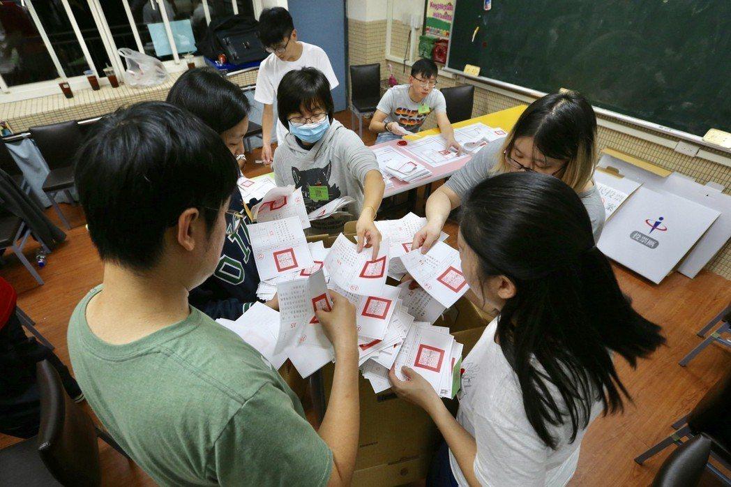 九合一大選剛落幕,創下台灣史上最漫長投開票過程。 記者林伯東/攝影