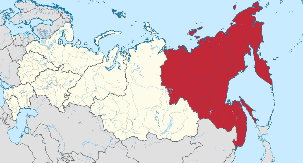 俄羅斯遠東地區面積占全俄領土36.3%;但人口卻只占全俄人口4.2%。 圖/維基...