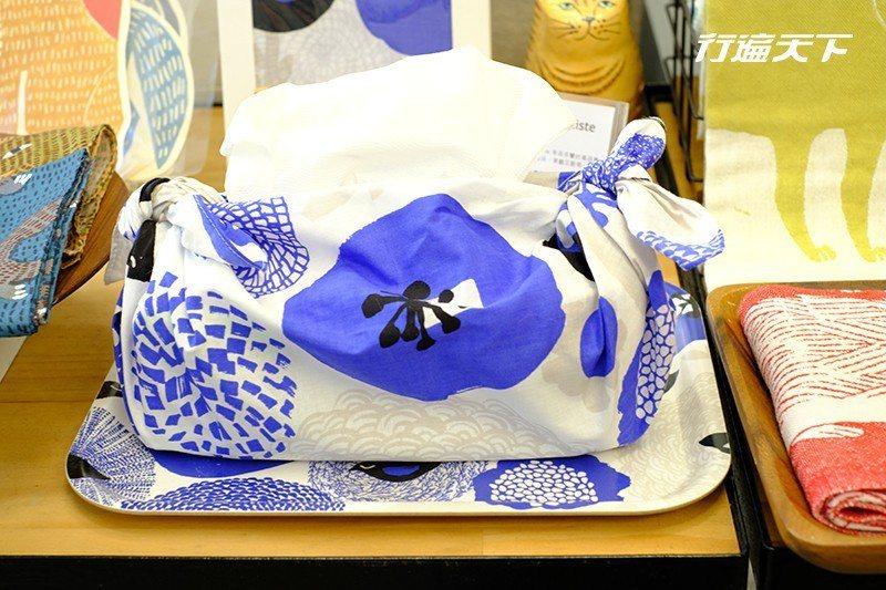 也有來自日本的精緻布品。  攝影|行遍天下