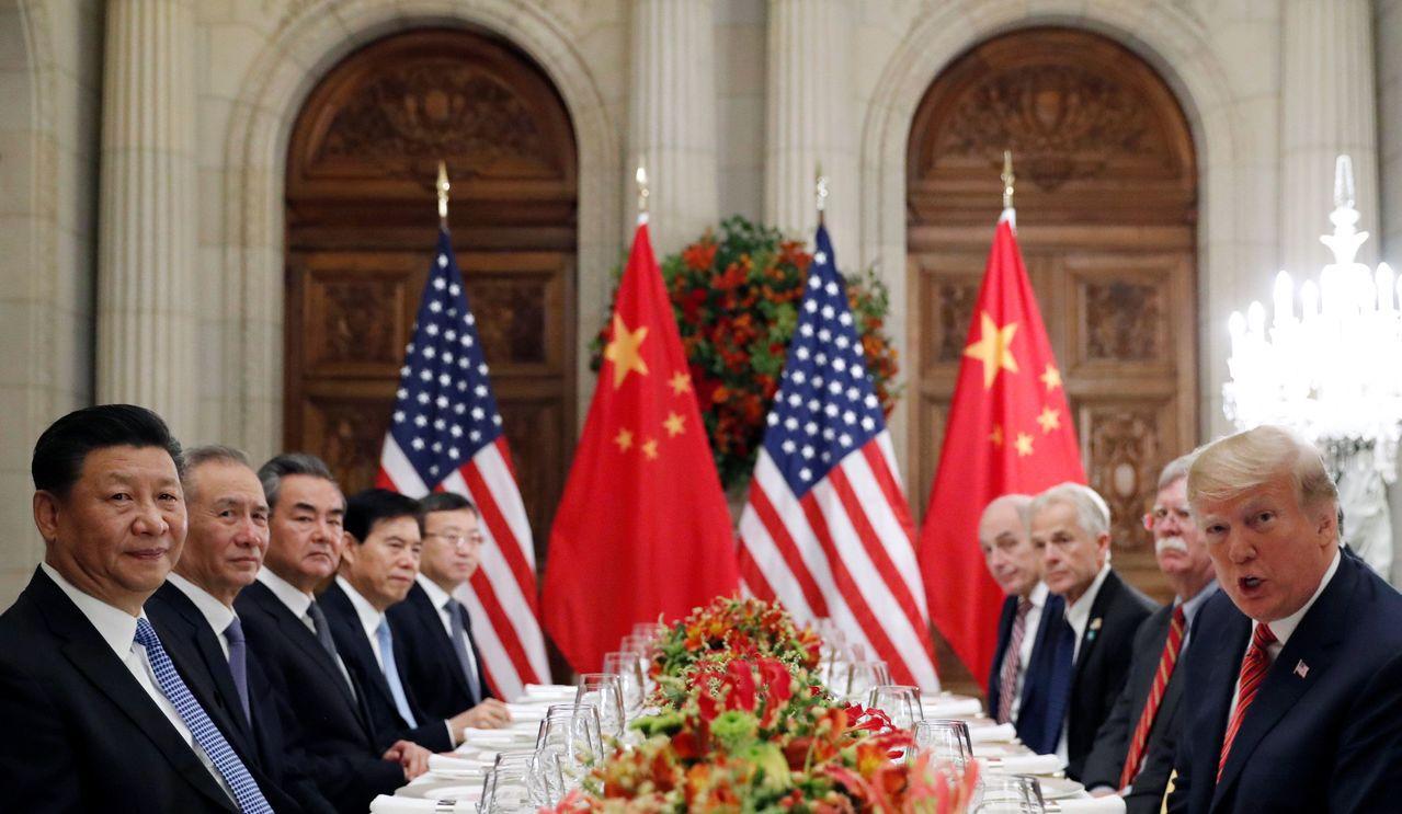 美國總統川普與中國國家主席習近平達成貿易戰休兵90天的協議。路透