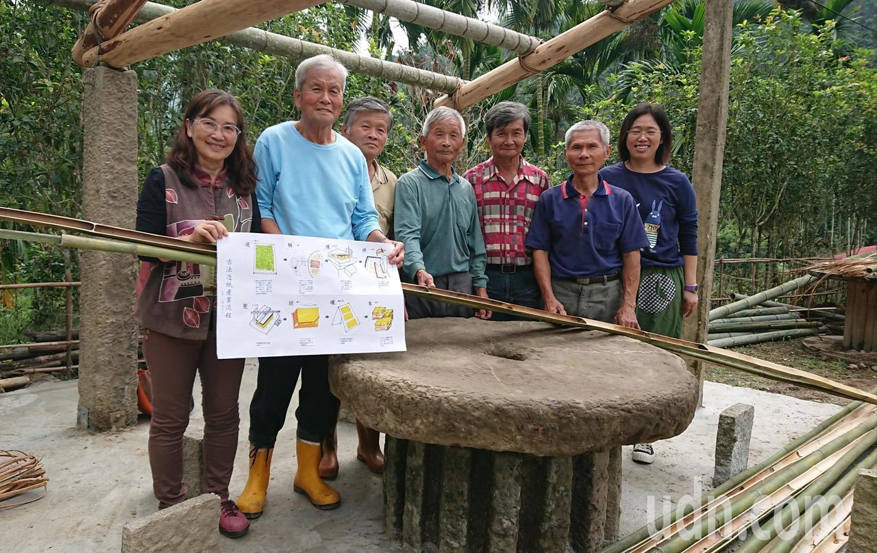 林書筠(左)要帶領籐寮居民,重溫過往地方手工造紙風華。記者卜敏正/攝影