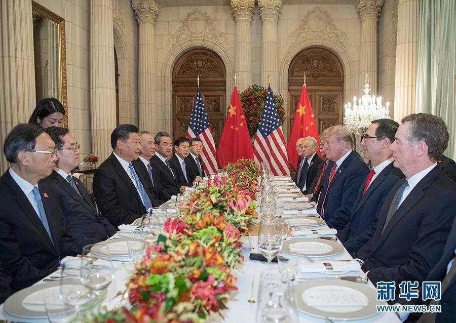 大陸國家主席習近平與美國總統川普在G20會談。新華網