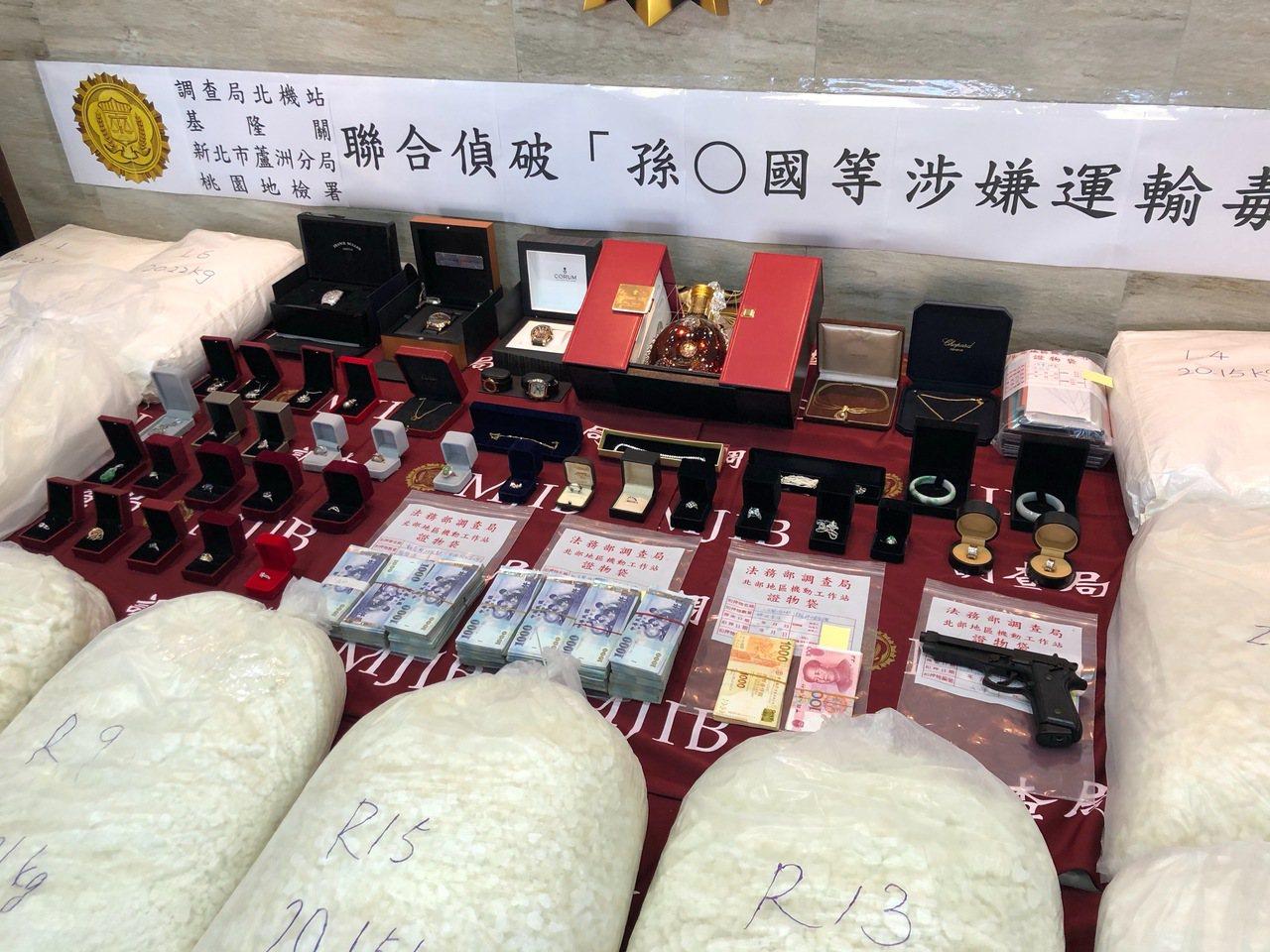 調查局偵破從深圳走私K他命322公斤來台案。記者張宏業/攝影