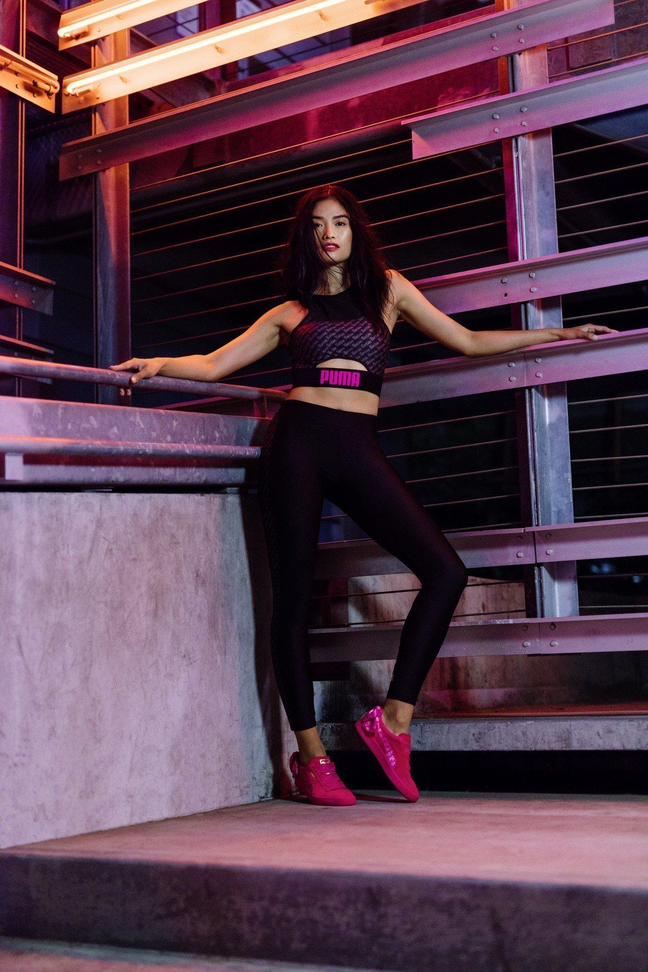 Puma Barbie短版上衣1,980元、緊身褲2,680元,限量版聯名鞋5,...
