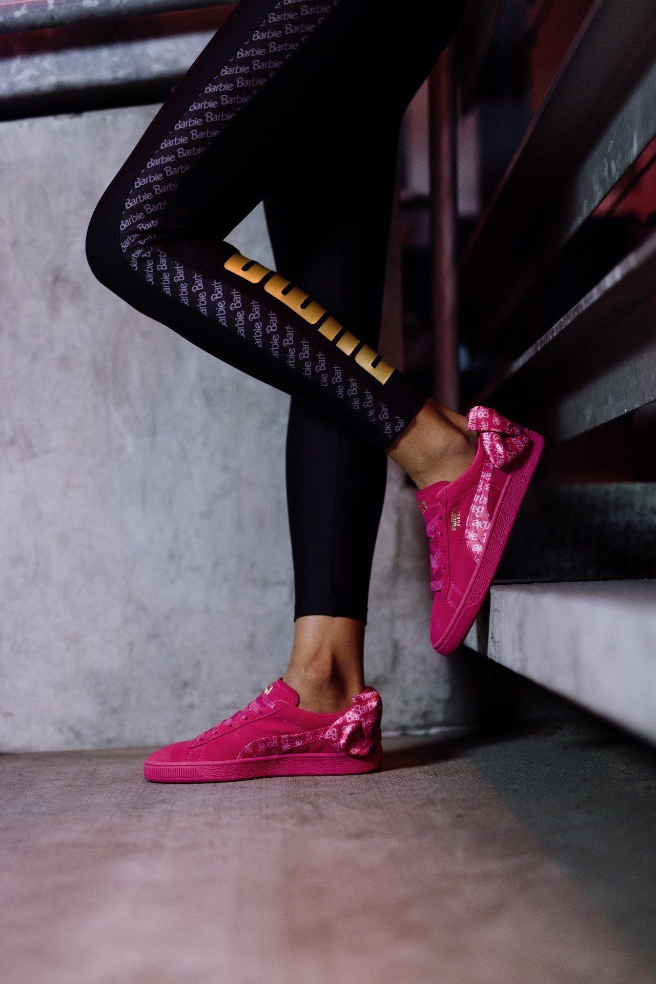 Puma打造全台超限量12 組夢幻芭比精裝禮盒組,包括限定版覆盆莓粉Suede鞋...