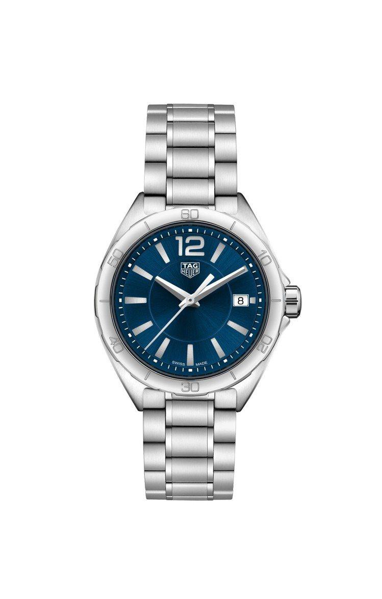 泰格豪雅Formula 1 Lady腕表,32毫米藍色太陽紋表面精鋼鍊帶款,約3...