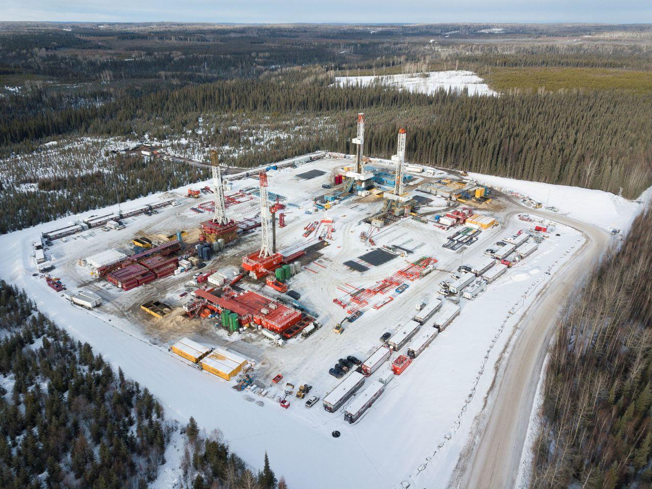 加拿大亞伯達省鑽油井。路透