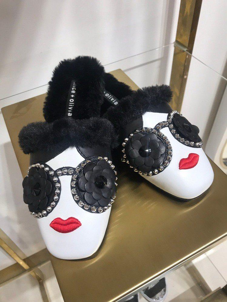 Stace Face毛毛鞋底穆勒鞋,16,500元。圖/Alice+Olivia...