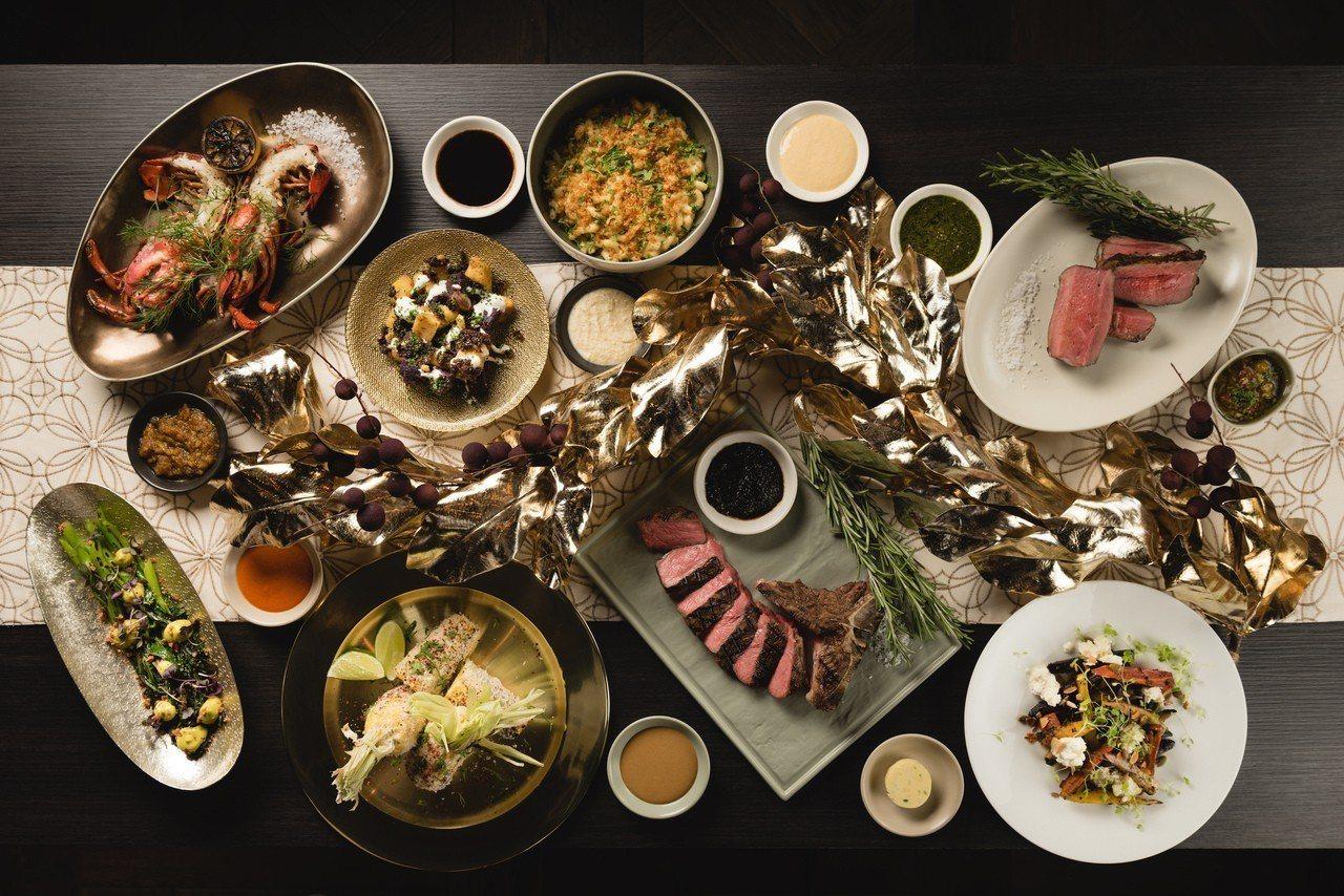 Wildwood精心設計的海陸耶誕饗宴,燒烤現流帝王蟹、美國頂級乾式熟成28日紅...