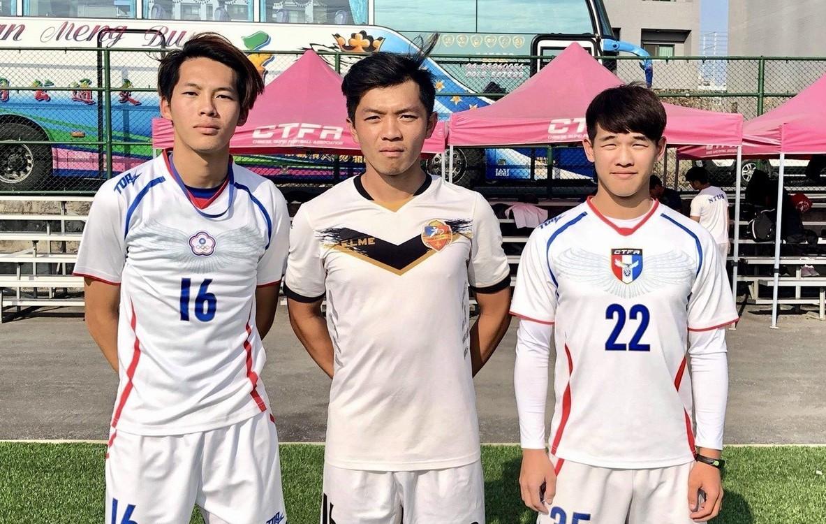 趙明修(左起)、陳陞洧、陳泓維將赴日參加選秀。圖/趙榮瑞提供