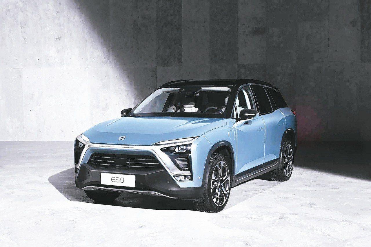中國大陸新興電動車品牌蔚來旗下ES8車種11月交付3,089輛,較10月大增96...