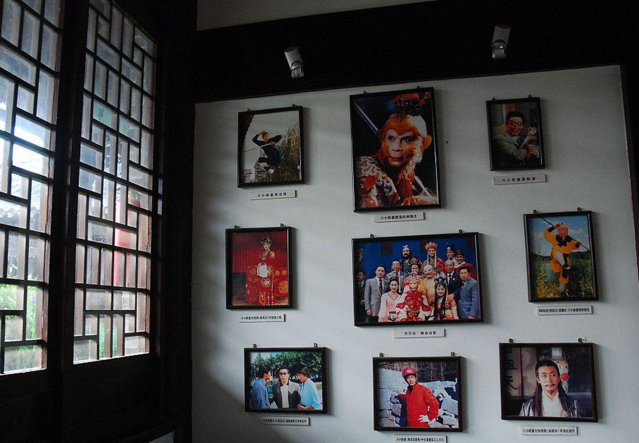 吳承恩故居紀念館館內掛滿86版《西遊記》劇照。(取材自微博)